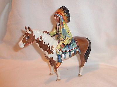 Beswick Mounted Horse With Indian Chief Perfect Model 1391 1955-90
