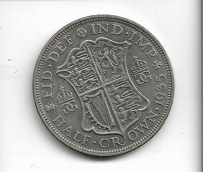 1935 half crown coin .500 silver king george v
