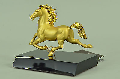 Chinese Zodiac gold-plated horse Sculpture Statue Animal Figurine DB