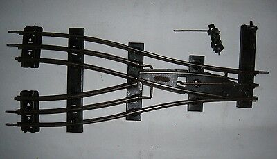 0 gauge 3-rail track by HORNBY: parallel points electric