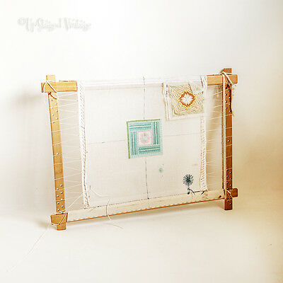Adjustable Re-Usable Tapestry Frame with Part Made Tapestry Cushion  FREE UK P&P