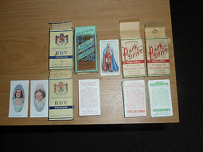 Cigarette cards boxes - Park Drive, Wills, Gallagher, Players & Godfrey Phillips