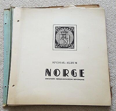 Collection of Norge Norway Stamps from Early