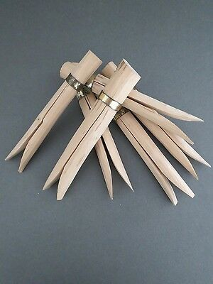 Vintage Handmade Wooden Large Clothes Pegs