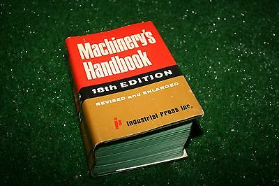Vintage 1969 Machinery's Handbook w/Dust Cover