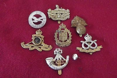 Grouping Of Canadian/British Cap Badges And Button
