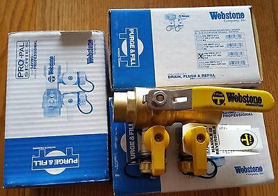 "Webstone purge and fill ball valve 1"" sweat 58614 LOT OF 3"