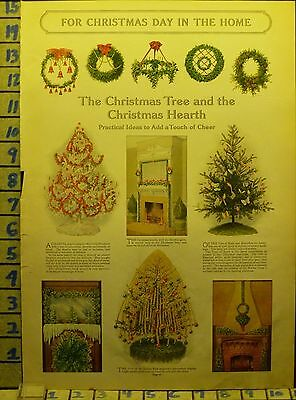 1911 Decoration Tree Hearth Decor Christmas Santa Holiday Vintage Ad  Ae81