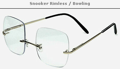 Snooker Bowling Pool Billiard Rimless Glasses / Spectacles PRESCRIPTION FRAMES