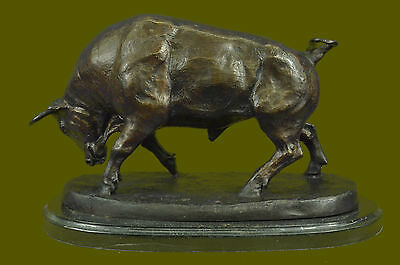 Bronze Marble Sculpture Large Statue Bull Hot Cast Stock Market Figurine DB