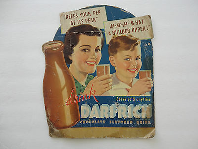 Dari - Rich Chocolate Flavored Drink Advertisement Board Grocery Store Diner