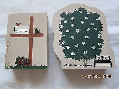 2 x Pieces Of Cats Meow Plaques used