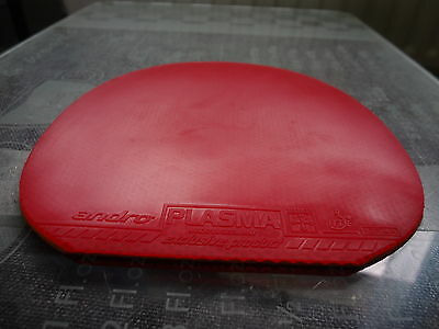 used table tennis rubber Andro Plasma 380  W151mm x H153mm