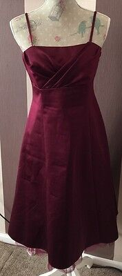 Burgundy Debut Dress Size 12 - Perfect For Weddings, Parties Etc