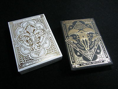Dominus Rare Limited Edition Playing Cards Gold Embossed 2 Deck Collectors Set