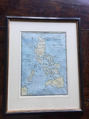 Framed Early 19th Century Map of the Philippines