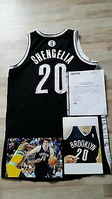 Game Worn Shengelia Nets Jersey NBA Photomatched