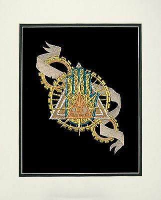 Eye of Providence large mat embroidery art