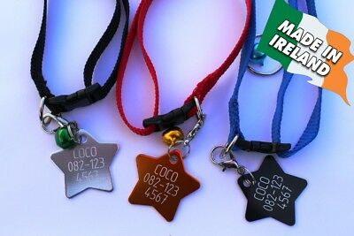 Cats ID, engraved, tag personalized, cat tags collar custom badge, pets pet disc