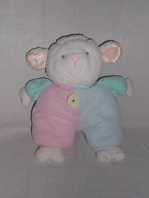RARE Eden Musical Pastel Lamb Sheep Musical Wind Up Box Baby Thermal Plush Lovey