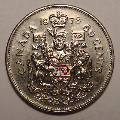 1978 Canada 50 Cent Coin