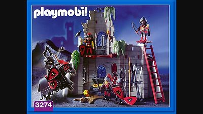 Playmobile Wolf Clan Castle and original figures + horse