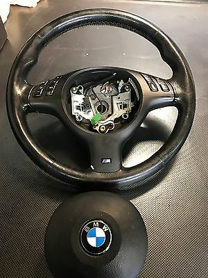 BMW 3 Series M Sport Leather Multi Function Steering Wheel E46 Coupe