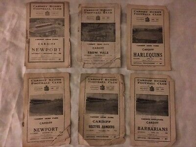 Cardiff Rugby Football Club - Official Programmes - Job Lot - 1956 - 1974