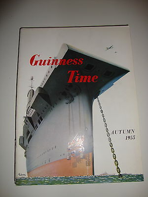 Guinness Time Staff Magazine Autumn 1955 Gilroy Poster Cover