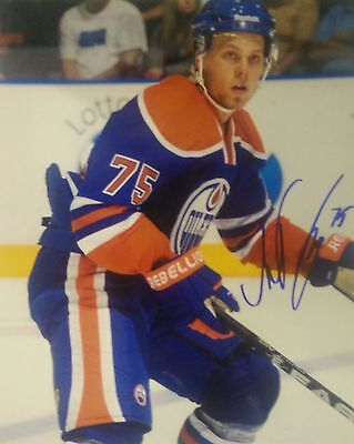 Antti Tyrvainen Edmonton Oilers NHL signed 8x10