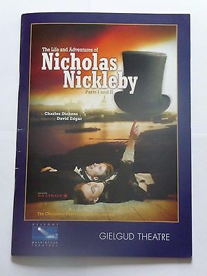 """Official programme """"The Life and Adventures of Nicholas Nickleby"""" - 2007"""