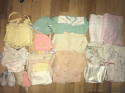 Nice Lot of Vintage Antique Baby Girl Clothes