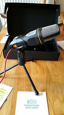 Tonor Black Professional Condenser Sound Podcast Studio Microphone For PC Laptop