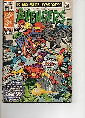 The Avengers King Size Special 4 Fine 1970 Marvel Bronze Age Comic