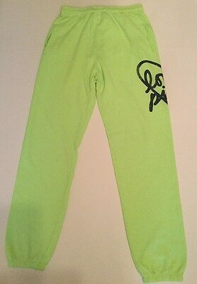 Victoria Secret's Pink Neon Green Sweat Pants - Size X-Small
