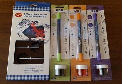 PME Brush n Fine 100% Edible Ink Pen Food Colouring For Cake Decorations