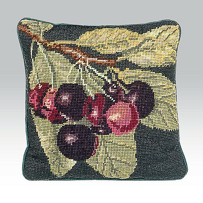 EHRMAN CHERRIES CUSHION TAPESTRY NEEDLEPOINT KIT by KAFFE FASSETT - DISCONTINUED