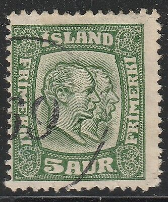 "Iceland[z001d] 1915-18.Scott.#.102.Used  Number Cancel "" 69 """