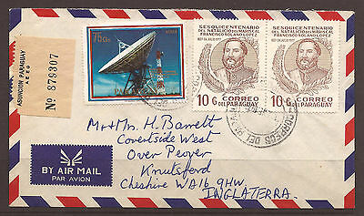 Paraguay. 1979. Space Stamp Air Mail Cover To England.