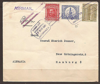 Guatemala. 1931. Commercial Air Mail Cover To Germany.
