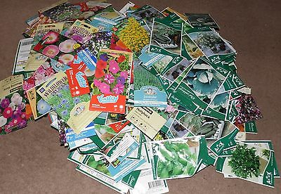 Large 338 piece seed packets jobot carboot market stall flowers and veg cheap