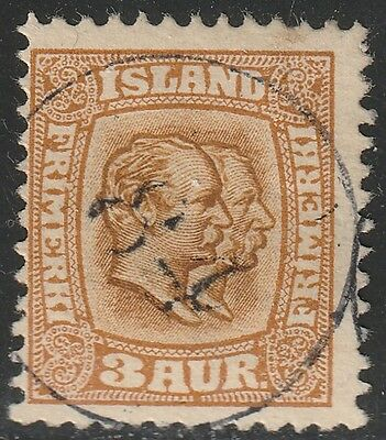 "Iceland[z001d] 1907-08.Scott.#.72.Used  Number Cancel "" 84 """