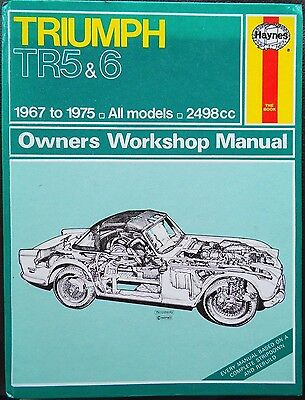 Haynes Workshop  Manual Triumph TR5 & TR6 from 1967 to 1975.