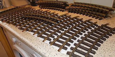 LGB 'G' GAUGE CURVED BRASS TRACK X 20 PCS R=600mm 1100 1998 +FREEBIES.