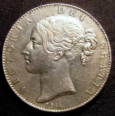 1844 EF Queen Victoria Crown. Star Stops CGS 60   ☆☆☆ CGS 2nd Finest Graded ☆☆☆