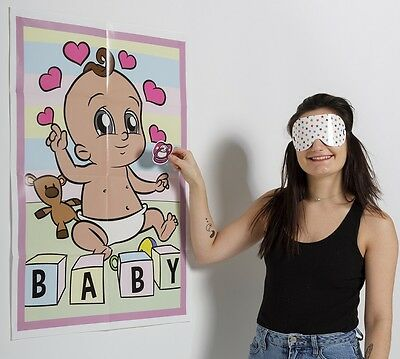 PIN THE DUMMY ON THE BABY ETHNIC Shower Party Game Boy Girl Unisex MULTI ETHNIC