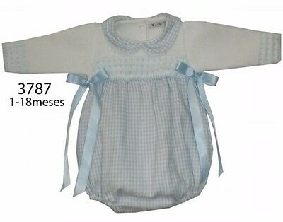 Spanish Baby Romper Long Sleeve Knitted Top Size 0-3 Months