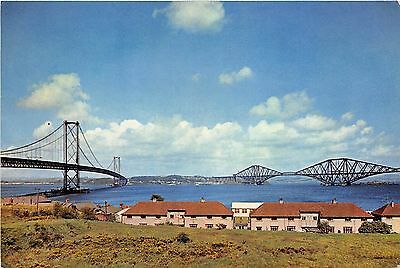B87219 the forth bridges from south queensferry west lothian scotland