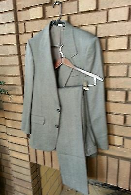 Men's 2 piece suit by MOORES SIZE 36R PURE WOOL COLOR GRAY