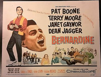Bernadine title lobby card TC 1957  Pat Boone & Terry Moore  teenagers & music